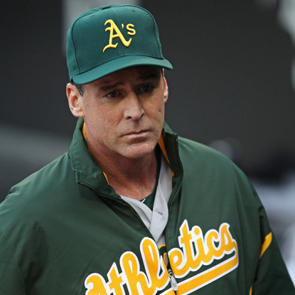 After losing 13 of 14 games, newly appointed A's manager Bob Melvin leads Oakland to its sixth straight win. (Getty Images)
