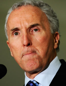 Signs are that Frank McCourt will wage a lawyer-filled, guerilla war to keep the Dodgers. (Getty Images)