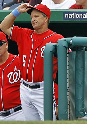 Riggleman thought guiding the Nats to third in the NL East was deserving of having his option picked up next season. (AP)
