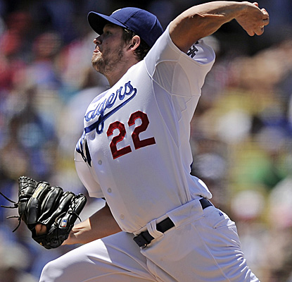 Clayton Kershaw gives up six hits against the Angels, but fans 11 in his second successive complete game. (AP)