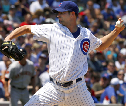 Cubs starter Doug Davis surrenders 10 runs and 12 hits in just 4 1/3 innings (AP)