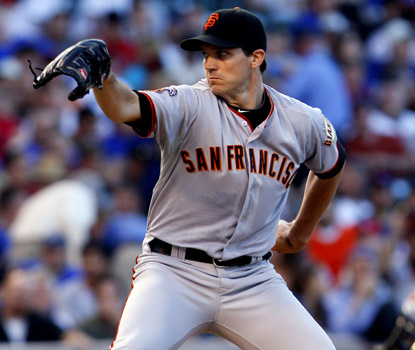Barry Zito allows four hits in seven innings of work in his first start since April 16. (AP)