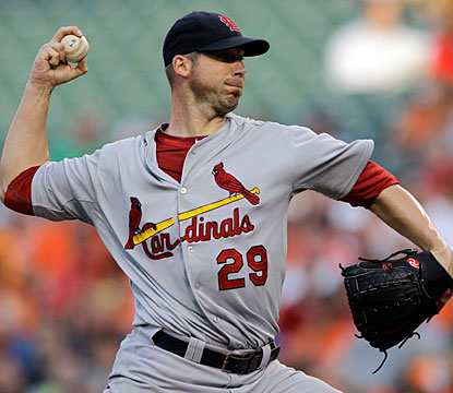 Chris Carpenter goes the distance for the second time this season and and for the 31st time in his career. (Getty Images)