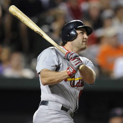 Lance Berkman cranks two home runs to help the Cardinals complete a series sweep of the Orioles. (AP)