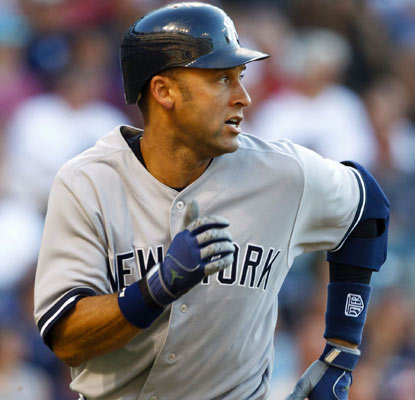 Derek Jeter goes 2-for-6 against the Indians to elevate his career hit total at 2,996.  (US Presswire)