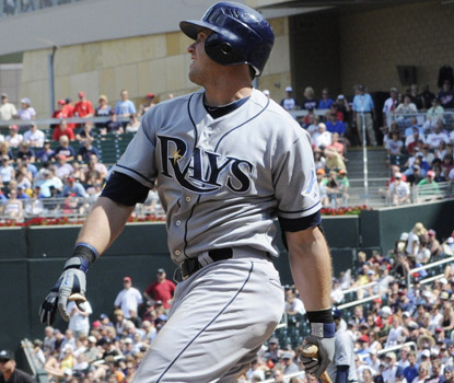 Evan Longoria enters the game in a 3-for-28 slump, but he finishes with three hits, driving in four. (AP)