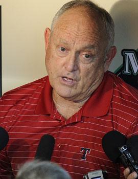 Rangers president Nolan Ryan says the team is evaluating safety at the stadium. (AP)