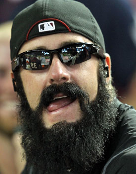 Actually, it might be time for Brian Wilson's beard to meet a razor. (Getty Images)