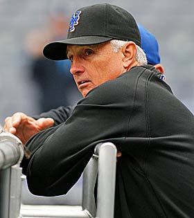 Mets manager Terry Collins has a few options when choosing his closer by committee for the remainder of 2011. (Getty Images)