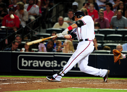 Martin Prado returns from the DL and helps power the Braves to their 10,000th franchise win.  (US Presswire)