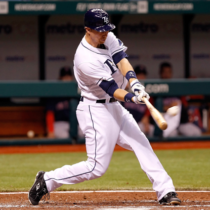 The Rays' Ben Zobrist connects on his fifth career grand slam while helping end the Red Sox's six-game win streak. (Getty Images)