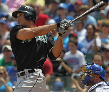Mike Stanton's two homers give him 20 on the season.  He finishes with three hits in the Marlins' romp. (Getty Images)