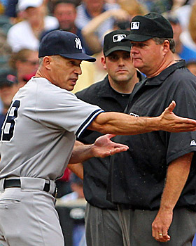 Joe Girardi says he has no problem with players and coaches trying to steal signs, and it's up to the defense to protect them. (US Presswire)
