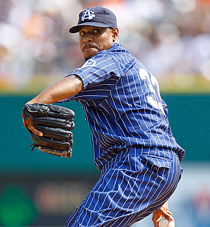 Edwin Jackson allows nine hits in his third career shutout, striking out two and walking two in the win over the Tigers. (Getty Images)