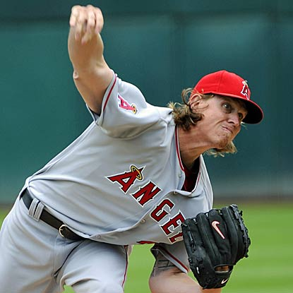 Jered Weaver collects his sixth straight victory as the Angels halt a late rally by the A's for the win. (Getty Images)