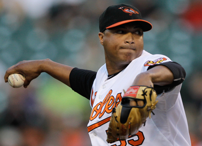 Alfredo Simon dominates early and becomes the second Baltimore starter in 29 games to complete seven innings. (Getty Images)