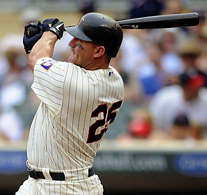 Jim Thome is four home runs shy of a milestone as the Twins DH hits HR No. 596 in a win against the Royals. (Getty Images)