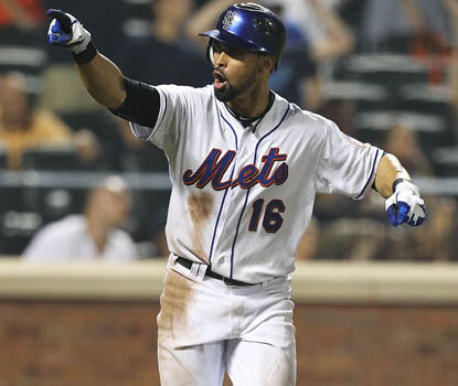 Angel Pagan reacts after slamming a walk-off home run to right field, lifting the Mets to a 6-5 victory. (Getty Images)