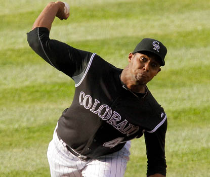 Rookie right-hander Juan Nicasio is once again outstanding for Colorado, giving up just one run over seven innings. (Getty Images)