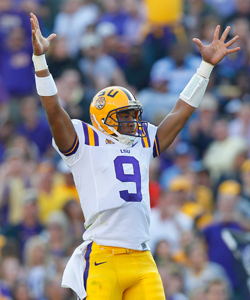 Much of LSU's success this season will depend on the play of QB Jordan Jefferson. (Getty Images)
