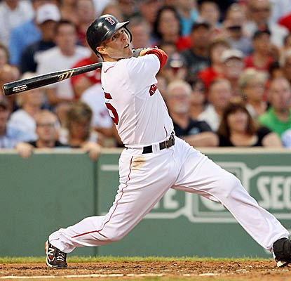 Dustin Pedroia now owns the record for longest hitting streak by a Red Sox second baseman. (Getty Images)