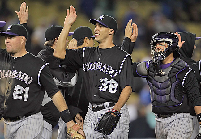 Will Saturday's start at San Diego be Jimenez's last with the Rockies? (Getty Images)