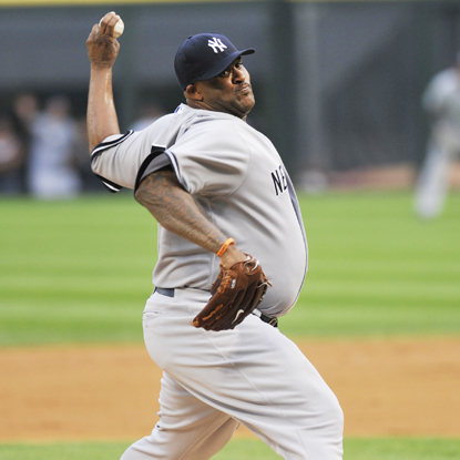 CC Sabathia allows two runs on 10 hits -- a season high -- but manages to fend off the ChiSox for win No. 16.  (Getty Images)