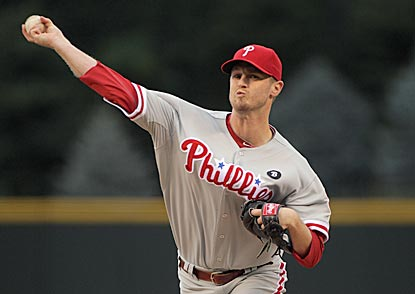 Kyle Kendrick strikes out a career-high seven batters and comes within an inning of his second career complete game.  (Getty Images)