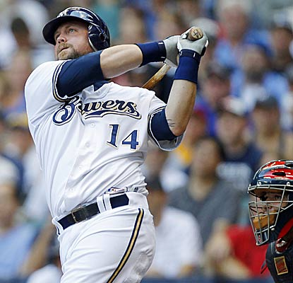 Casey McGehee enters the Brewers' record book by becoming the 11th player in team history to knock in three homers in a game. (AP)