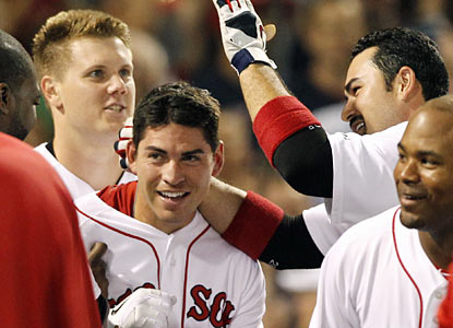 Jacoby Ellsbury hits a walk-off home run in the ninth -- the second straight game he provides a game-winning hit.  (AP)