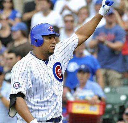 Carlos Zambrano hits a home run to go with six solid innings of work to lead the red-hot Cubs.  (Getty Images)