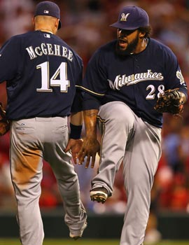 Prince Fielder (right) may not be back next year, but why worry? The Brewers are making the most of 2011. (Getty Images)