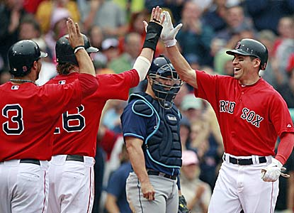 Jacoby Ellsbury's three-run homer is all the offense the Red Sox need in the first game of a doubleheader against the Rays. (AP)