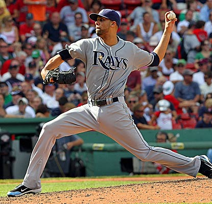 David Price scatters three hits over eight scoreless innings for his third victory in nine outings. (Getty Images)