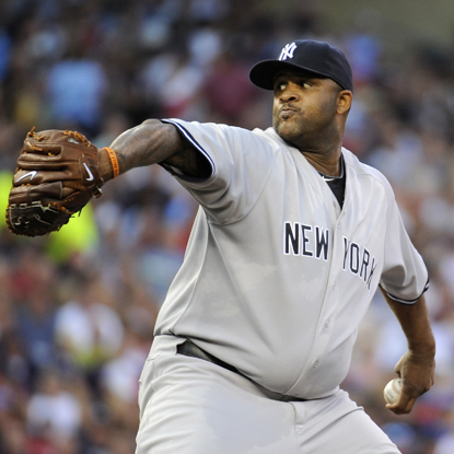 After losing two starts in a row, CC Sabathia rebounds nicely against the Twins and grabs his 17th win of the season.  (Getty Images)