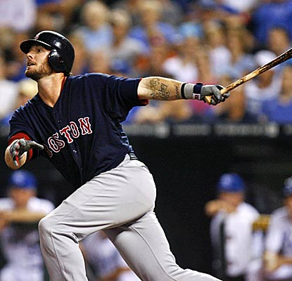 Jarrod Saltalamacchia helps the Red Sox defeat the Royals by crushing his 12th home run of the season. (Getty Images)