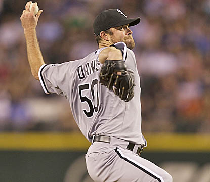 John Danks retires 16 of the first 17 batters he faces, while matching a career-high with 10 strikeouts. (Getty Images)