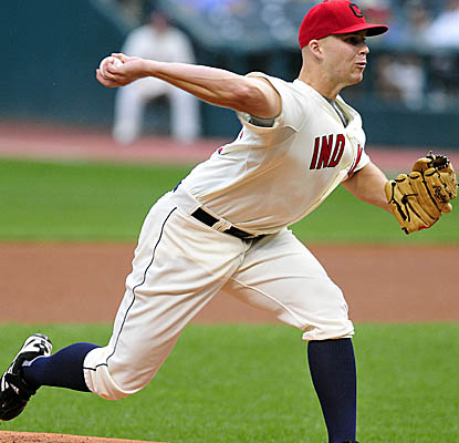 Indians starter Justin Masterson takes his first loss since July 24, allowing two runs in six innings. (Getty Images)