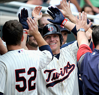 Luke Hughes helps the Twins stop a seven-game slide with his two home runs vs. the Tigers. (Getty Images)