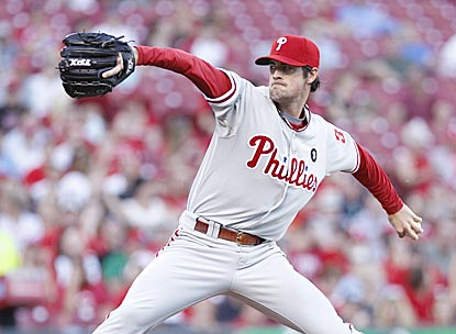 In his first appearance in 17 days, Cole Hamels allows one run on two hits while striking out seven in six innings.  (Getty Images)