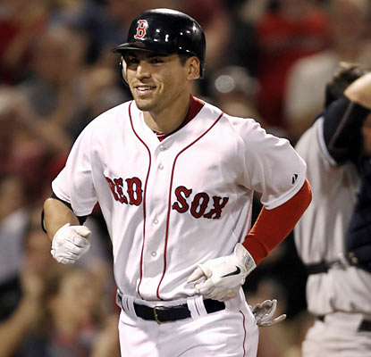 Red Sox get more timely power from Jacoby Ellsbury, who hits a tiebreaking homer in the sixth -- his 24th on the season.  (AP)