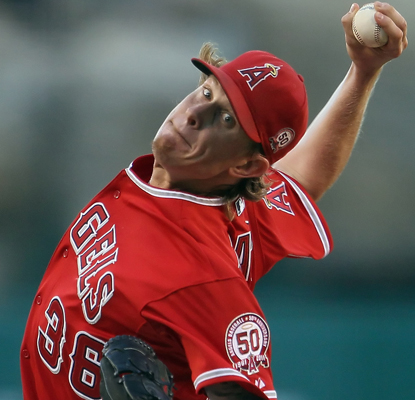 Jered Weaver strikes out eight Twins as he picks up his 16th win of the season. (Getty Images)