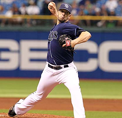James Shields wraps up a four-hitter vs. the Rangers for his MLB-leading 11th complete game. (US Presswire)