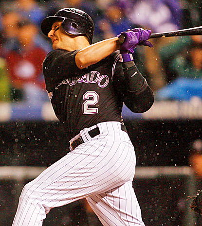 Troy Tulowitzki's three-run blast with two outs in the bottom of the eighth inning puts Colorado ahead to stay.  (US Presswire)