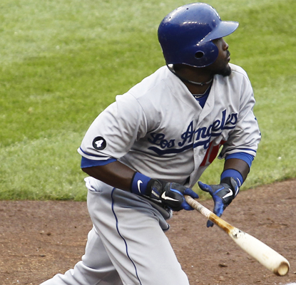 Tony Gwynn gets his first RBI since Sept. 1 with a two-run double in the ninth inning. (AP)