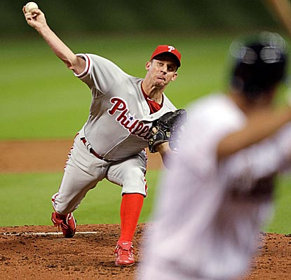 Facing his old team in Houston, Roy Oswalt lasts seven innings, but allows five runs and 11 hits. (Getty Images)