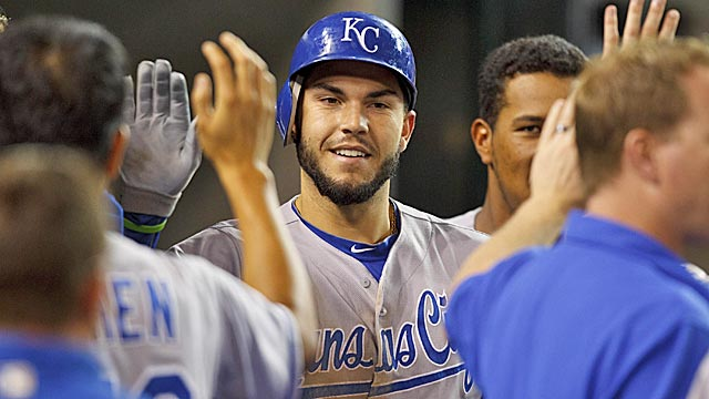Royals first baseman Eric Hosmer should give long-suffering Royals fans hope of brighter days. (US Presswire)
