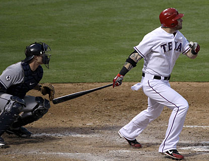 Josh Hamilton's third career grand slam keys an eight-run fourth inning in the Rangers' rout of the Tribe (AP)