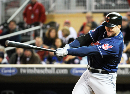 Jim Thome swings through HR No. 603 while helping the Indians top the Twins.  (Getty Images)