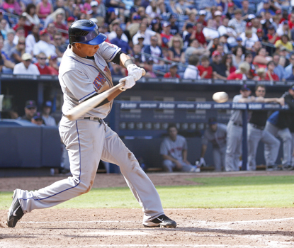Three of Ruben Tejada's four RBI come from a three-run double in the four-run fourth.   (Getty Images)